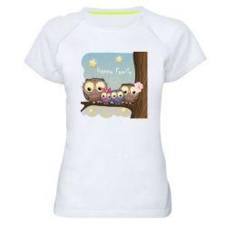 Жіноча спортивна футболка Happy family