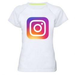 Жіноча спортивна футболка Instagram Logo Gradient