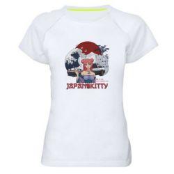 Жіноча спортивна футболка Japan Kitty