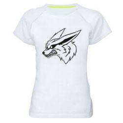 Жіноча спортивна футболка Kurama line art