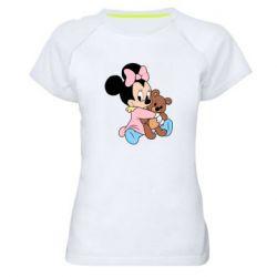 Жіноча спортивна футболка Minnie And Bear