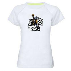 Женская спортивная футболка Motocross