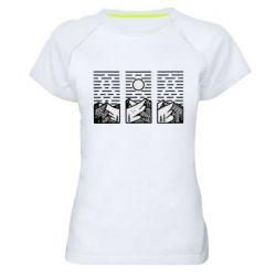 Жіноча спортивна футболка Mountain sun