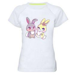 Жіноча спортивна футболка Rabbits In Love