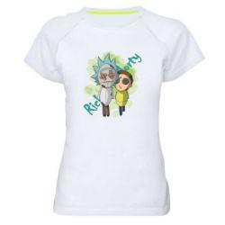 Жіноча спортивна футболка Rick and Morty voodoo doll