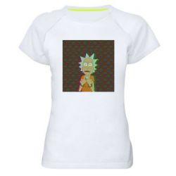 Женская спортивная футболка Rick Fck Hologram