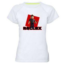 Женская спортивная футболка Roblox Builderman