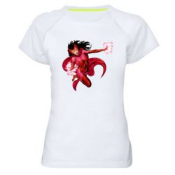 Жіноча спортивна футболка Scarlet Witch comic art