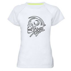 Жіноча спортивна футболка Skull with scythe