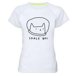 Жіноча спортивна футболка Space boi
