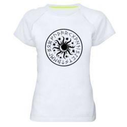 Жіноча спортивна футболка Sun in runes