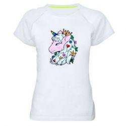 Жіноча спортивна футболка Unicorn Princess