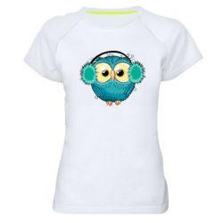 Женская спортивная футболка Winter owl