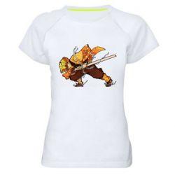 Жіноча спортивна футболка Zenitsu Demon Slayer