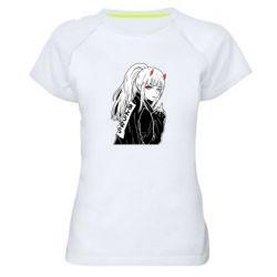 Жіноча спортивна футболка Zero Two Art
