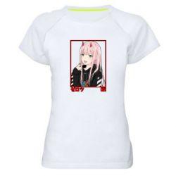 Жіноча спортивна футболка Zero Two Modern Style