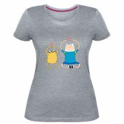Жіноча стрейчева футболка Adventure time