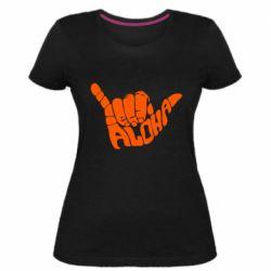 Женская стрейчевая футболка Aloha Hawai
