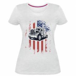 Жіноча стрейчева футболка American Truck