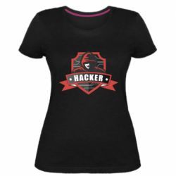 Жіноча стрейчева футболка Anonymous Hacker