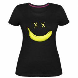 Женская стрейчевая футболка Banana smile