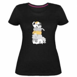 Жіноча стрейчева футболка Cats