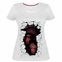 Жіноча стрейчева футболка Colossal titan