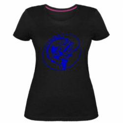 Женская стрейчевая футболка Evil fish
