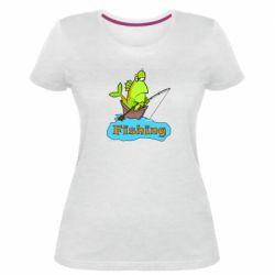 Женская стрейчевая футболка Fish Fishing