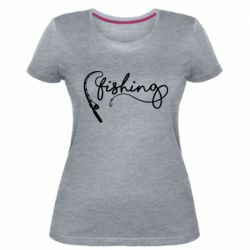 Жіноча стрейчева футболка Fishing and fishing rod