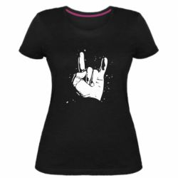 Женская стрейчевая футболка HEAVY METAL ROCK