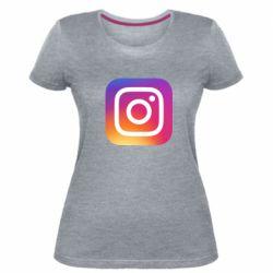 Жіноча стрейчева футболка Instagram Logo Gradient