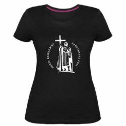 Жіноча стрейчева футболка Київський князь Володимир