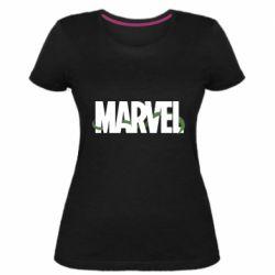 Женская стрейчевая футболка Marvel logo and vine