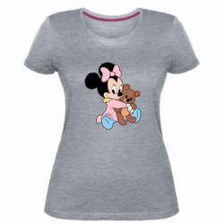 Жіноча стрейчева футболка Minnie And Bear