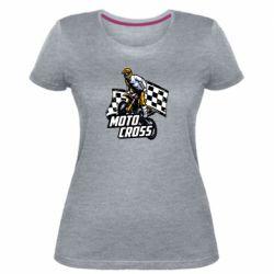 Женская стрейчевая футболка Motocross