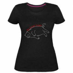 Жіноча стрейчева футболка My inner tiger