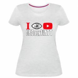 Жіноча стрейчева футболка I Watch NEOdekWATT