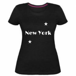 Женская стрейчевая футболка New York and stars