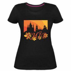 Жіноча стрейчева футболка Night-Day Kiev