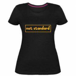 Жіноча стрейчева футболка Not standard