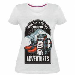 Жіноча стрейчева футболка Open Your Heart
