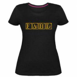 Жіноча стрейчева футболка Тато - Таблиця Менделєєва