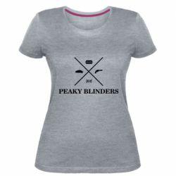 Жіноча стрейчева футболка Peaky Blinders I