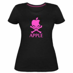 Женская стрейчевая футболка Pirate Apple