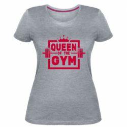Жіноча стрейчева футболка Queen Of The Gym