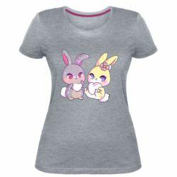 Жіноча стрейчева футболка Rabbits In Love