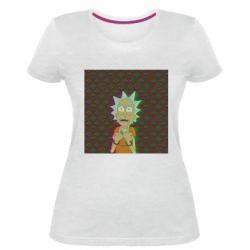 Женская стрейчевая футболка Rick Fck Hologram