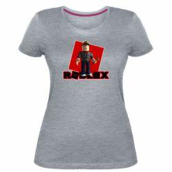Женская стрейчевая футболка Roblox Builderman