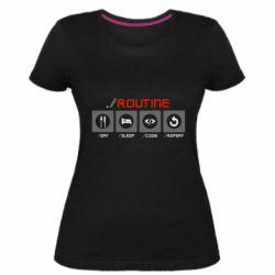 Жіноча стрейчева футболка Routine code